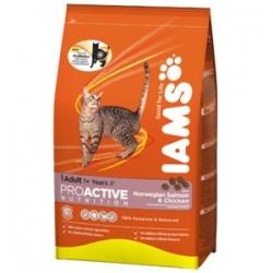 Iams Adult with Salmon 1,5 кг / Ямс Эдалт для взрослых кошек с лососем 1,5 кг