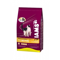 Iams Mature & Senior Chicken 2,55 кг / Ямс Матюр и Сеньор для пожилых кошек 2,55 кг