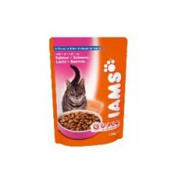 Iams Adult Salmon 22 шт х 100 гр / Ямс для взрослых кошек с лососем (22 шт х 100 гр)