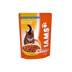 Iams Adult Chicken 22 шт х 100 гр / Ямс для взрослых кошек с курицей (22 шт х 100 гр)