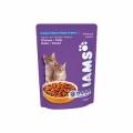Iams Kitten&Junior Chicken  22 шт х 100 гр / Ямс для котят с курицей (22 шт х 100 гр)
