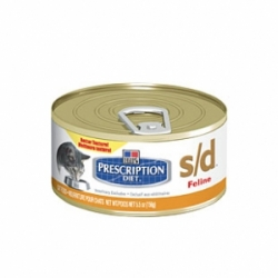 Hills Prescription Diet Feline s/d 24 шт х 156 г / Хиллс для растворения струвитных уролитов у кошек (24 шт х 156 г)