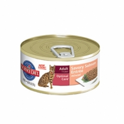 Hills Feline Adult with Salmon 24 шт х 156 гр / Хиллс для взрослых кошек с лососем (24 шт х 156гр)