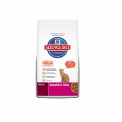 Hills Feline Adult Sensitive Skin Chicken 5кг /  Хиллс для улучшения состояния кожи и шерсти кошек 5кг