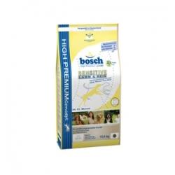 Bosch Sensitive Lamb & Rice 15кг / Бош Сенситив Ягненок с Рисом для взрослых собак склонных к аллергии 15 кг