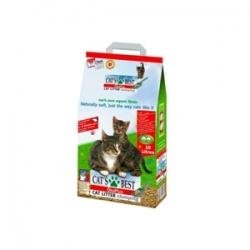 Cat's Best Eko Plus 18 кг / Древесный комкоющий наполнитель Кэтс Бест 18 кг