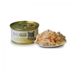 Brit Care Chicken Breast & Cheese 12 шт х 80 гр / Брит для кошек с куриной грудкой и сыром (12 шт х 80 гр)