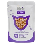 Brit Care Cat Pouches Chicken & Cheese Kitten 80 гр х 24 шт / Брит для котят 80 гр х 24 шт