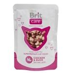 Brit Care Cat Pouches Chicken & Duck 80 гр х 24 шт / Брит для кошек курица с уткой 80 гр х 24 шт