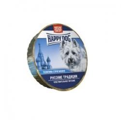 Happy Dog veal 125 гр х 16 шт / Хэппи Дог для собак с телятиной русские традиции 125 гр х 16 шт